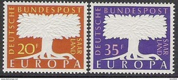 1957 Saarland    Mi. 402-3**MNH - Europa-CEPT