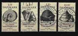 DÄNEMARK Mi-Nr. 1195 - 1198 Historische Fossilienfunde Und Ihre Erstbeschreiber Gestempelt - Gebraucht