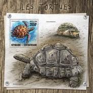 CENTRAFRICAINE 2016 SHEET TURTLES TORTUES TARTARUGAS TORTUGAS SCHILDKROTEN TARTARUGHE REPTILES VIE MARINE LIFE Ca16810b - Centrafricaine (République)