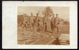 8492 - Altes Foto - 1. WK WW - Soldaten Beim Bau - Feldpost - Inf. Regt. 345 10. Komp - 1916 - Guerre 1914-18