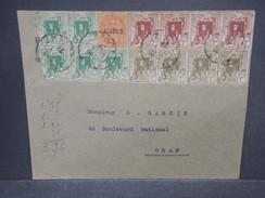 FRANCE / ALGÉRIE - Enveloppe De Alger Pour Oran En 1927 , Affranchissement Plaisant - L 7380 - Algérie (1924-1962)