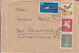 République Fédérale - Lettre De 1958 - Oblit Feldafing - Oiseaux - Bateaux - Chants - Valeur 9 € ++ - BRD