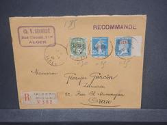 FRANCE / ALGÉRIE - Enveloppe En Recommandé De Alger Pour Oran En 1926, Affranchissement Plaisant - L 7381 - Algérie (1924-1962)
