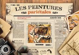 CENTRAFRICAINE 2015 SHEET PREHISTORIC CAVE ART PAINTINGS PEINTURES PARIETALES ARDECHE Ca15503b - Central African Republic