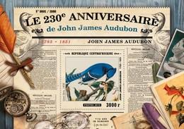 CENTRAFRICAINE 2015 SHEET JAMES AUDUBON ART PAINTINGS Ca15507b - Centraal-Afrikaanse Republiek