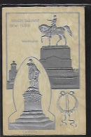 NEW YORK CITY - Union Square - Washington & Lafayette - Embossed Postcard In Silver - Unclassified