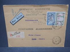 FRANCE / ALGÉRIE - Enveloppe Commerciale En Recommandé De Alger Pour Paris En 1935 , Affranchissement Plaisant - L 7388 - Algérie (1924-1962)