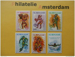 Suriname 1992, OLYMPICS BARCELONA: Mi 1407-12, ** - Zomer 1992: Barcelona