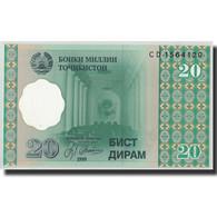 Tajikistan, 20 Diram, 1999 (2000), KM:12a, NEUF - Tadjikistan