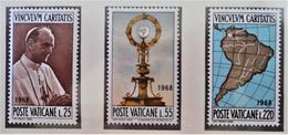 CONGRES EUCHARISTIQUE A BOGOTA 1968 - NEUFS ** - YT 479/81 - MI 538/40 - Vatican