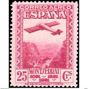ES652STV-LTV***652STTAV.Spain.Esgane.URGENTE.MONTSERRAT.Pegaso 1931 (Ed 652**) - Airplanes