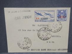 FRANCE / ALGÉRIE - Enveloppe 1er Service Aérien Sans Surtaxe En 1945 Pour La France , Affr. Plaisant - L 7394 - Algérie (1924-1962)