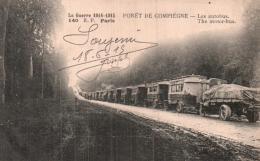 60 FORET DE COMPIEGNE LES AUTOBUS - Guerra 1914-18