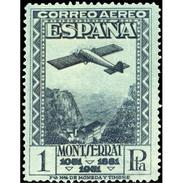 ES654STV-LTV***654STAN.Spain.Esgane.Montañas Y MONASTERIO  DE MONTSERRAT AEREO.Avion 1931 (Ed 654**) - 1889-1931 Reino: Alfonso XIII