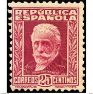 ES658STV-LTV***658STCSC.Spain.Esgane.PERSONAJES ILUSTRES.NICOLAS SALMERON. 1931 (Ed 658**) - Sin Clasificación