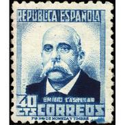 ES660STV-LTV***660STCSC.Spain.Esgane.PERSONAJES ILUSTRES.EMILIO CASTELAR. 1931 (Ed 660**) - Sin Clasificación