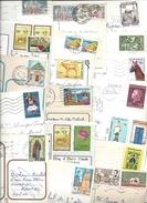 Lot De 18 Timbres TUNISIE Sur Carte Postale Tous Différents - Voir Scan - Tunisia
