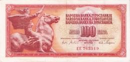 YOUGOSLAVIE   100 Dinara   1/8/1965   P. 80a - Yugoslavia
