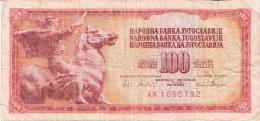 YOUGOSLAVIE   100 Dinara   1/8/1965   P. 80c - Yugoslavia