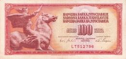 YOUGOSLAVIE   100 Dinara   1/8/1965   P. 80b - Yugoslavia