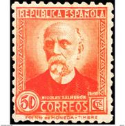ES671STV-LTV***671STCSC.Spain.Esgane.PERSONAJES ILUSTRES.NICOLAS SALMERON. 1931 (Ed 671**) - Sin Clasificación