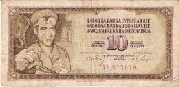 YOUGOSLAVIE   10 Dinara   1/5/1968   P. 82a - Yugoslavia