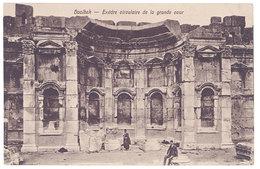 Cpa Liban / Syrie - Baalbek Exèdre Circulaire De La Grande Cour