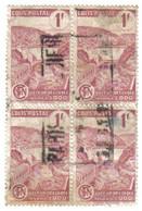 Colis Postal N°216A En Bloc De 4. Quelques Défauts. Voir Le Scan - Oblitérés