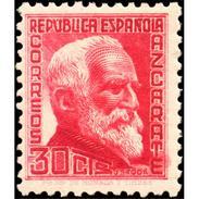 ES686STV-LTV***686STAN.Spain.Esgane.PERSONAJES ILUSTRES.GURMESINDO AZCARATE. 1933/5 (Ed 686**) - 1889-1931 Reino: Alfonso XIII