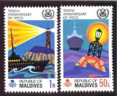 MALDIVES ; MINT N.H. STAMPS ; SCOTT # 324-5 ; IGPC  1970   ( IMCO - Maldive (1965-...)