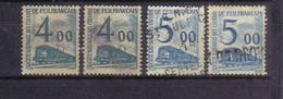 SNCF 44  (2 Exemplaires) Et SNCF 45 (2 Exemplaires) TB. - Oblitérés