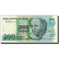 Brésil, 200 Cruzeiros On 200 Cruzados Novos, Undated (1990), KM:225b, NEUF - Brésil