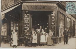 CPA PHOTO 75 PARIS XI 5 Boulevard Richard Lenoir / 2 Rue Amelot Commerce Café Maison BOYER 1906 Rare - District 11