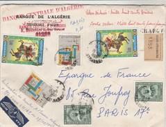 Algérie Lettre Valeur Déclarée Cachet Chargé ALGER STRASBOURG 15/5/1968 Pour Paris - Algérie (1962-...)