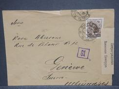 RUSSIE - Enveloppe Pour La Suisse En 1917 Avec Contrôle Postal Russe - L 7406