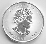 Zilveren 1 Oz Bullion Munt, Canada Maple Leaf, 2015, In Capsule - Canada
