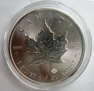 Zilveren 1 Oz Bullion Munt, Canada Maple Leaf, 2016, In Capsule - Canada