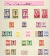 COL.TIMBRES De SERVICE,quasi Compléte,13 SCANNS ,manquent QUELQUES N D-  FORTE BAISSE - Neufs