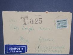 ITALIE - Taxe De Génova Sur Enveloppe De Hongrie En 1939 , Affranchissement Au Verso - L 7412 - Portomarken