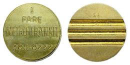 04035 GETTONE JETON TOKEN TRASPORTI TRANSIT TRANSPORTATION MICHIGAM KALAMAZOO 1983 1 FARE METRO TRANSIT - Sin Clasificación