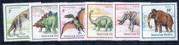 HUNGARY 1990 Prehistoric Creatures MNH / **  Michel 4110-15 - Hungary