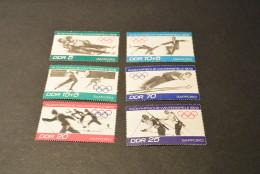 K10752- Set MNH DDR -  1972- Mi- 1725- 1730- Olympics Sapporo - Hiver 1972: Sapporo