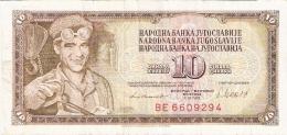 YOUGOSLAVIE   10 Dinara   4/11/1981   P. 87b - Yugoslavia