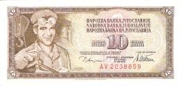 YOUGOSLAVIE   10 Dinara   12/8/1978   P. 87a   SUP+ - Yugoslavia