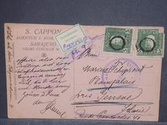 BOSNIE- HERZÉGOVINE - Carte De Sarajevo Pour La Suisse En 1916 Avec Contrôle Postal Affr. Plaisant - L 7430 - Bosnie-Herzegovine