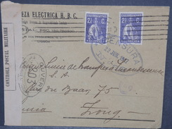PORTUGAL - Enveloppe Commerciale De Lisbonne Pour La Suisse En 1917 Avec Contrôle Postal, Affr. Plaisant - L 7431 - 1910-... République