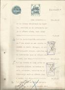 DOCUMENTO MANUSCRITO, PAPEL SELLADO FISCAL, SELLO 8ª CLASE, SERIE AÑO 1931. - Fiscales