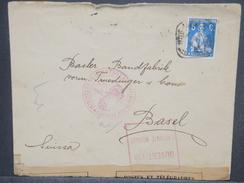 PORTUGAL - Enveloppe Pour La Suisse En 1915 Avec Contrôle Postal, Affr. Plaisant - L 7433 - Lettres & Documents
