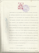 DOCUMENTO MANUSCRITO, PAPEL SELLADO FISCAL, SELLO 10ª CLASE, DEL AÑO 1936. SIN CATALOGAR - Fiscales