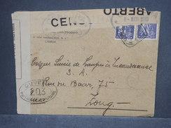 PORTUGAL - Enveloppe Commerciale De Lisbonne Pour La Suisse En 1917 Avec Contrôle Postal, Affr. Plaisant - L 7435 - 1910-... République